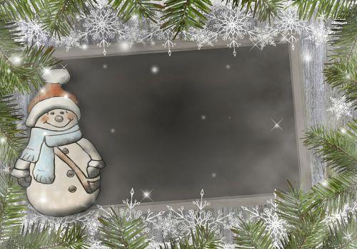 snow man christmas fir green