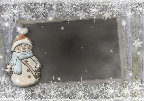 snow man board snowflakes