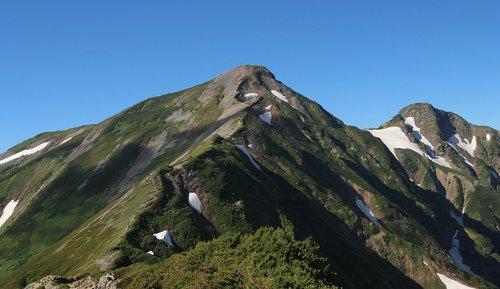snow mountain  mountain climbing  japan