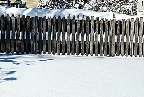 sezonai, žiema, sniegas, sniegas, tvora, sniego & nbsp, scena, kraštovaizdis, sniego scena 2