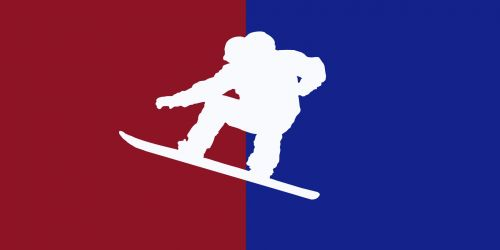 Snowboard MLB Logo