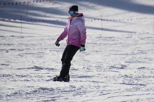 snowboarder skier winter