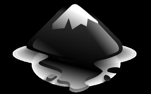 snowcap mountain cone