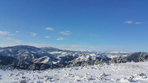 snowcap mountains scenery mountains
