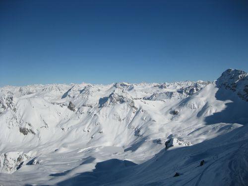 snowcaped mountain mountain landscape
