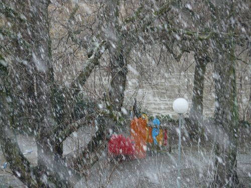 snowfall snow snowflakes