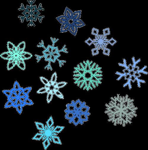 snowflake hexagon snow
