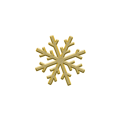 snowflake snow decor