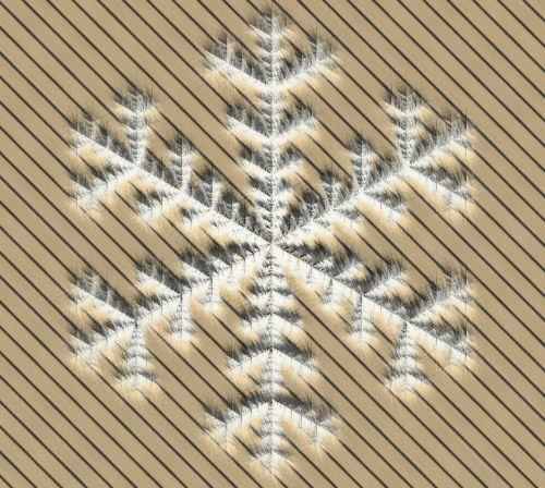 Snowflake On Stripe Background
