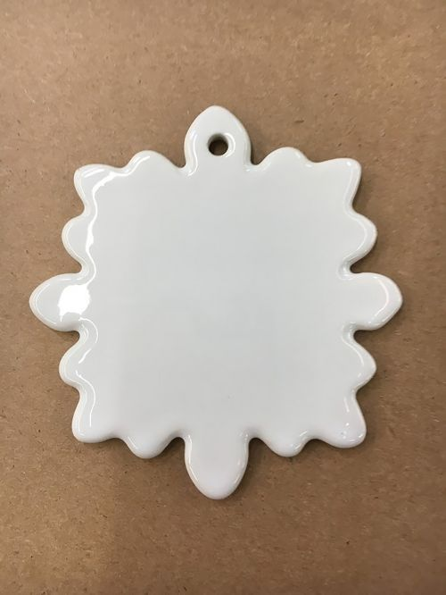 snowflake ornament ceramic ornament sublimation ornament
