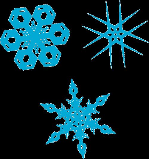 snowflakes crystals winter