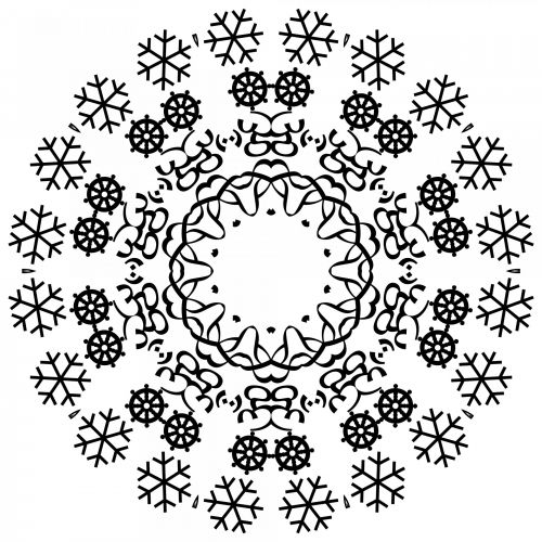 Snowflakes In A Circle