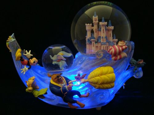 snowglobes disney collectible action figures
