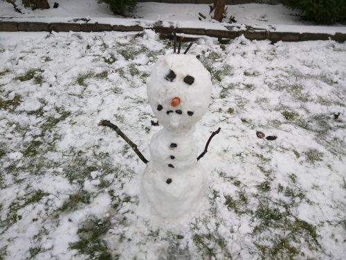 snowman winter snow