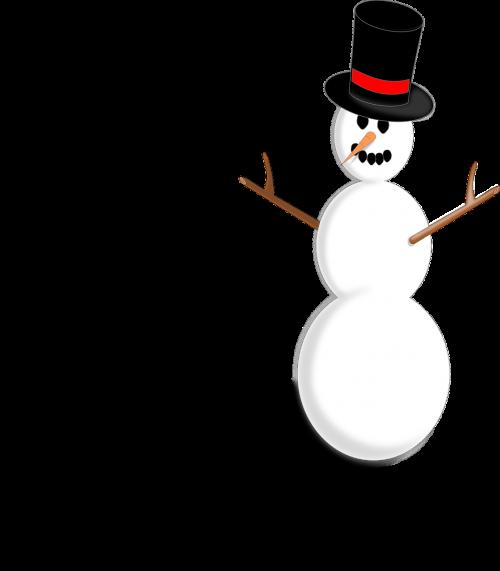 snowman snow christmas