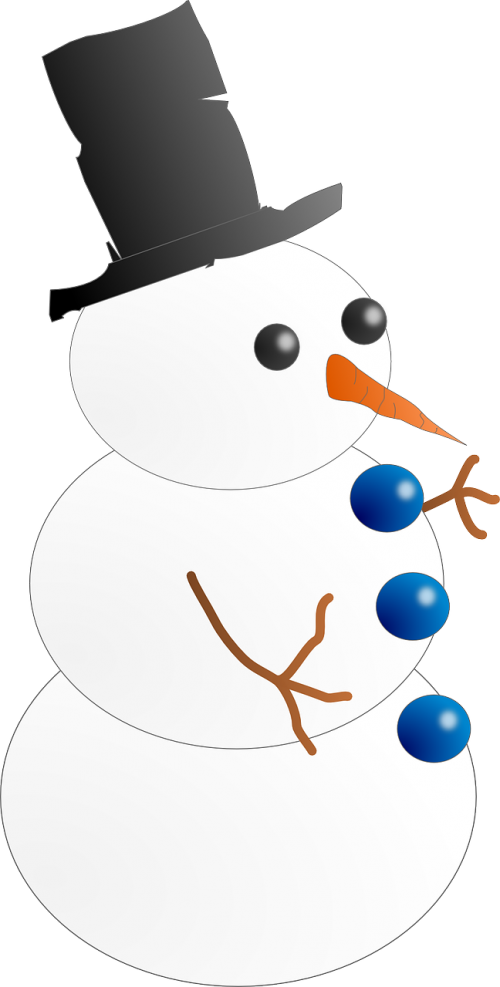 snowman cold frosty