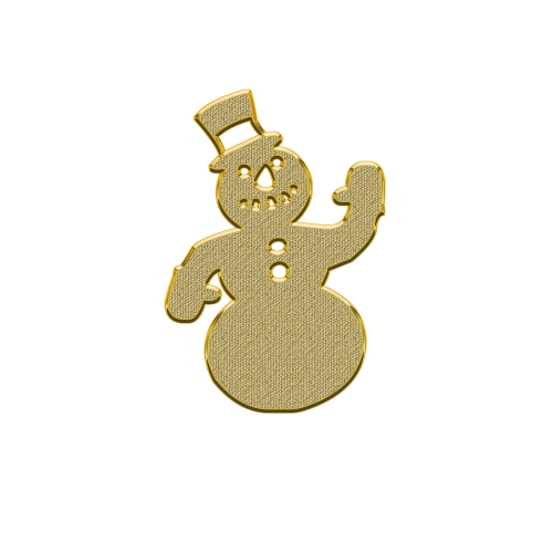 snowman new year's eve ornament