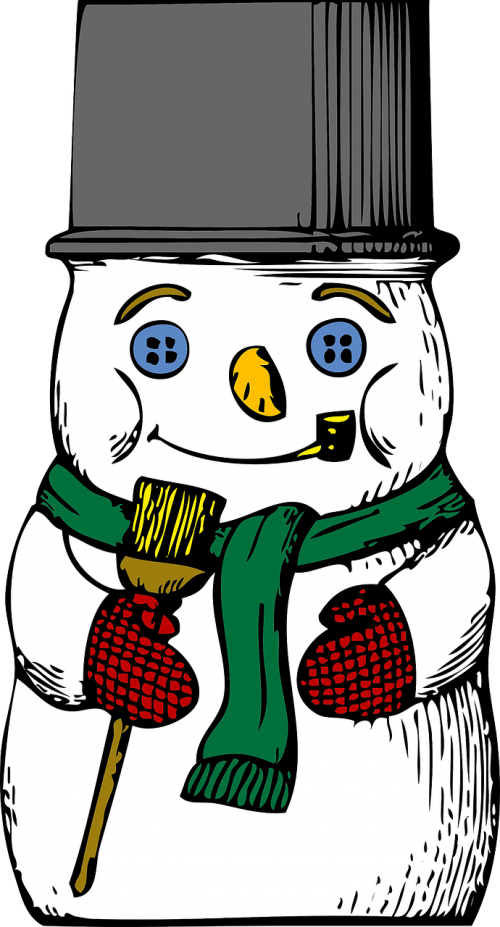 snowman winter cold