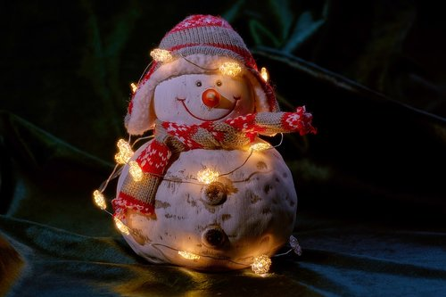 snowman  lichterkette  lighting