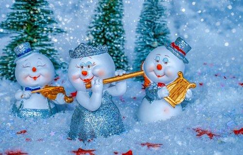 snowman  music  instruments