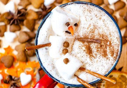 snowman  snowman cocoa  marshmallow snowman