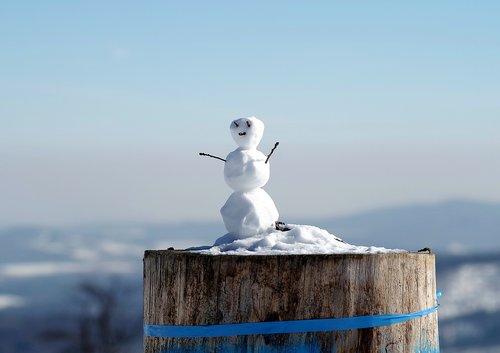snowman  little snowman  winter