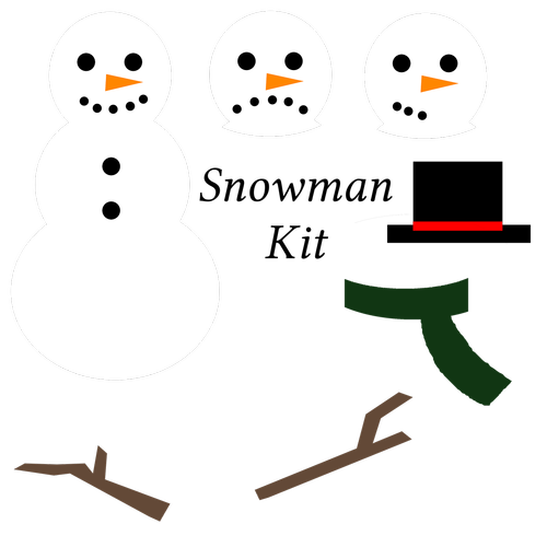 snowman  snowman kit  clipart set