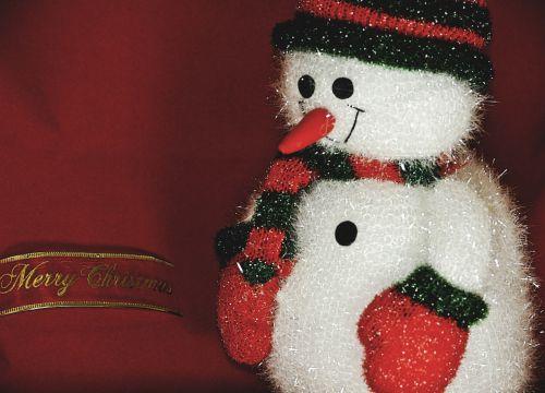 Snowman Merry Christmas Greeting