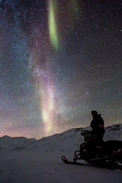 snowmobile aurora auroras