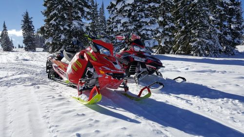 snowmobile snow colorado