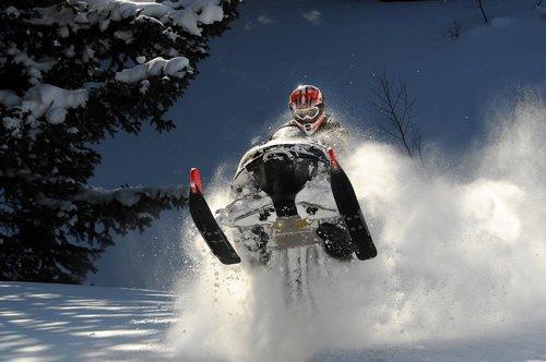 snowmobile  winter  snowy