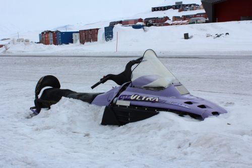 snowmobile snow norway
