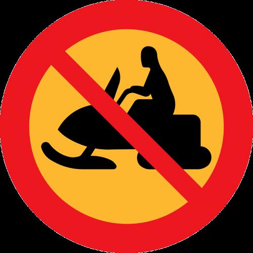 snowmobile prohibited forbidden