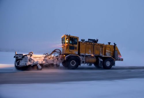 snowplow road truck