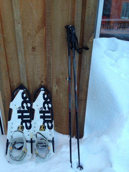snowshoes snow winter