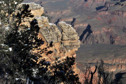 Snowy Grand Canyon Rim