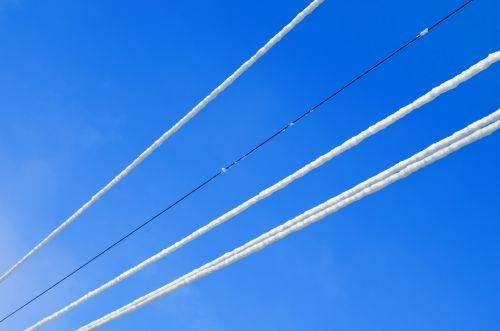 Snowy High Voltage Wires