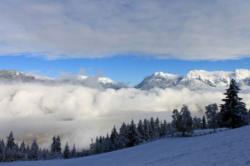 snowy landscape winter landscape alps