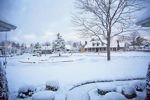 snowy neighborhood winter neighborhood