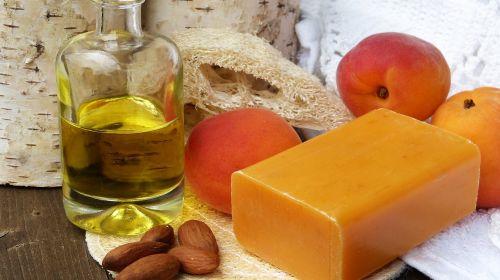 soap oil almonds