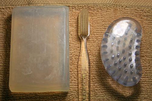 Soap Bar, Tooth & Nailbrush, Cloth