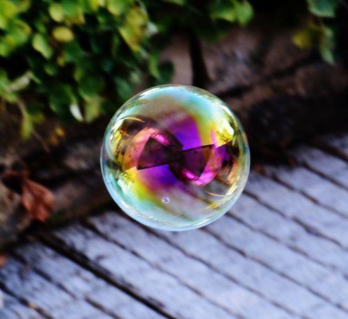 soap bubble colorful balls