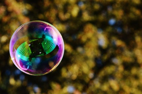 soap bubble colorful balls