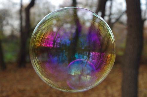 soap bubble bubble reflection