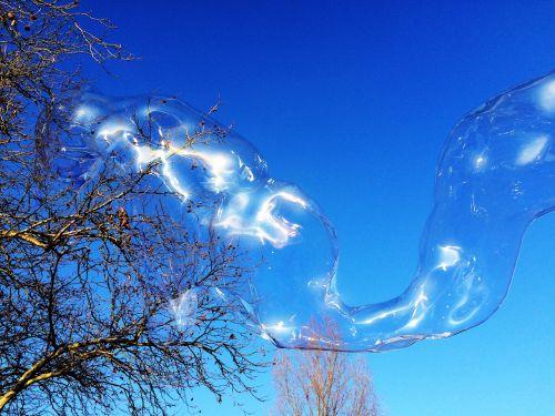 soap bubble huge colorful