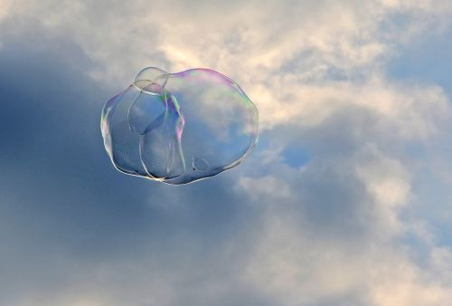 soap bubble sky shimmer
