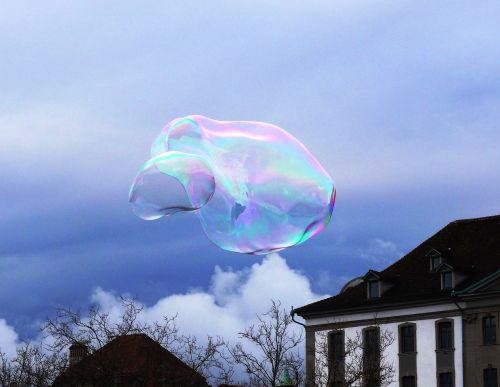 soap bubble sky cloud
