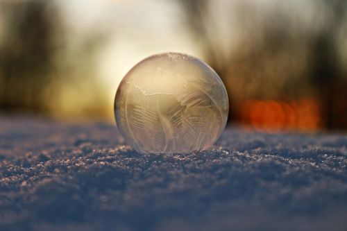 soap bubble frost snow