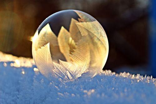 soap bubble frost snow