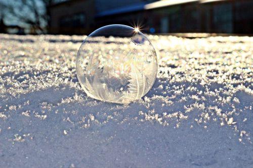 soap bubble ball ice